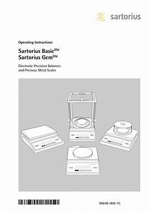 Sartorius Basic Lite Operating Instructions