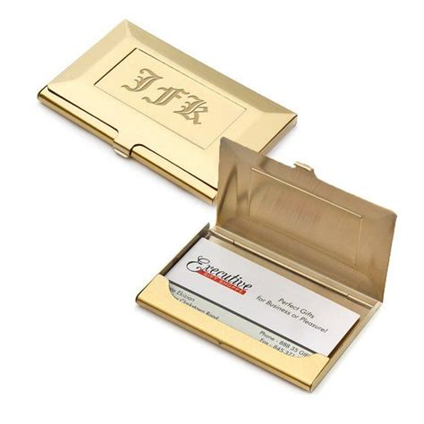 Get frame personalized business cards or make your own from scratch! Brass Frame Style Engraved Business Card Holder ...