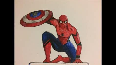 drawing spiderman captain america civil war youtube