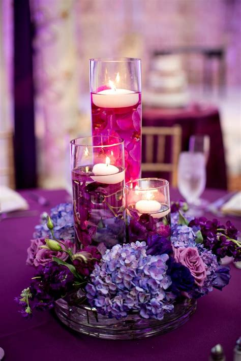 Purple Wedding Reception Decorations Marylan Wedding
