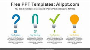 Light Bulb Icon List Powerpoint Diagram Template Light