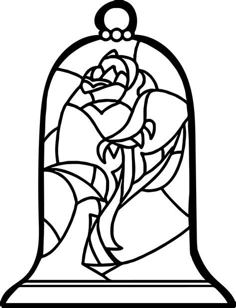 Stained Glass Rose Coloring Page Wecoloringpagecom
