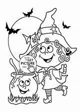 Coloring Witch Halloween Funny Printable Pages 4kids Kerra sketch template