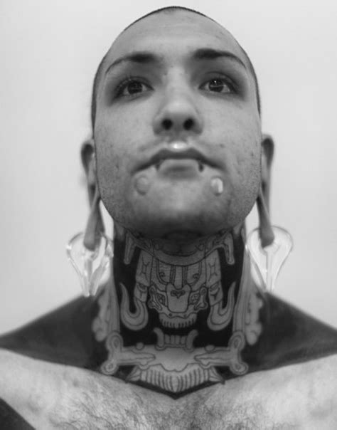Demon God Blackwork tattoo on Neck | Best Tattoo Ideas Gallery
