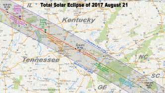 2017 Solar Eclipse Path Kentucky Map