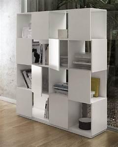 Bibliothèque Ikea Blanche : branch etagere bibliotheque design temahome laquee blanc mat ~ Preciouscoupons.com Idées de Décoration