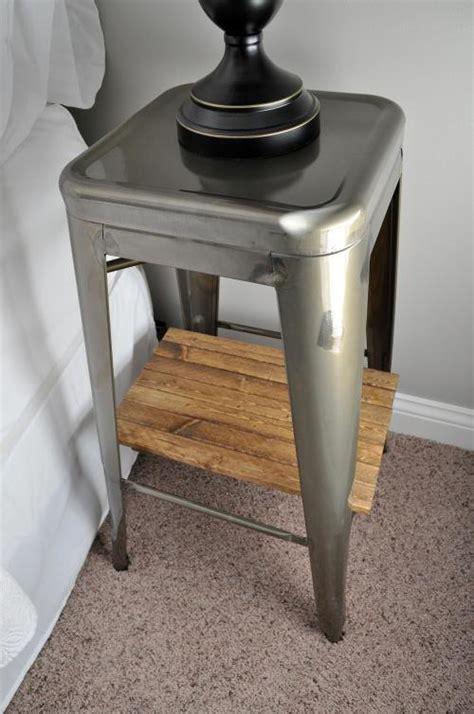 industrial stool nightstands hometalk