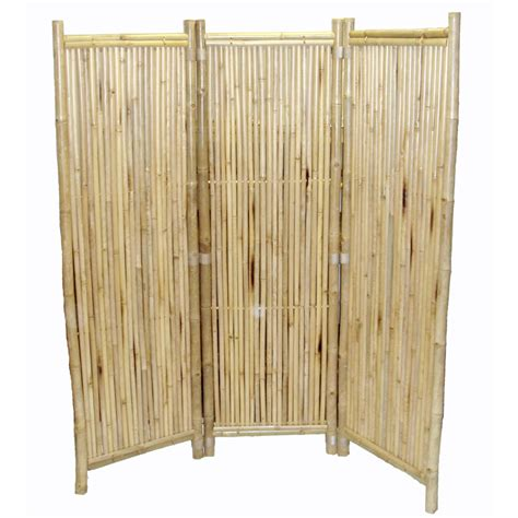 shop bamboo 54 3 panel bamboo folding indoor privacy