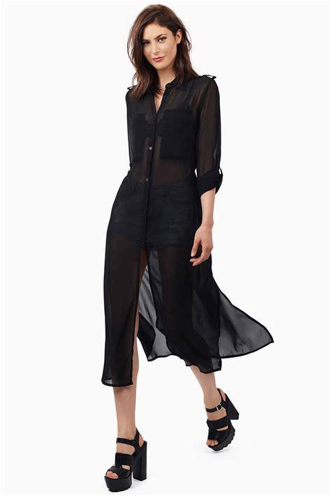 sexy black maxi dress button  dress  tobi