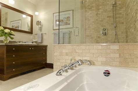 travertine tile bathroom traditional bathroom