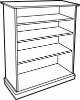 Bookshelf Clip Bookcase Clipart Clker Ocal Shared 2008 sketch template