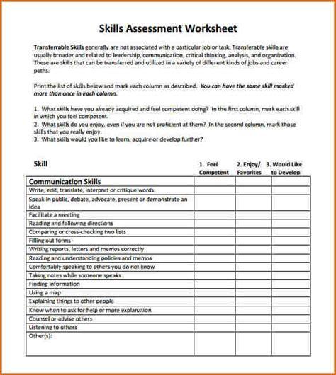 skills assessment template authorizationlettersorg