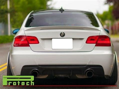white performance high kick trunk spoiler fit bmw