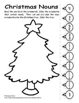 2nd grade grammar christmas nouns worksheet for my classroom nouns worksheet nouns verbs worksheets