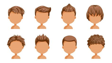 Curly Hair Boy Illustrations Royalty Free Vector Graphics