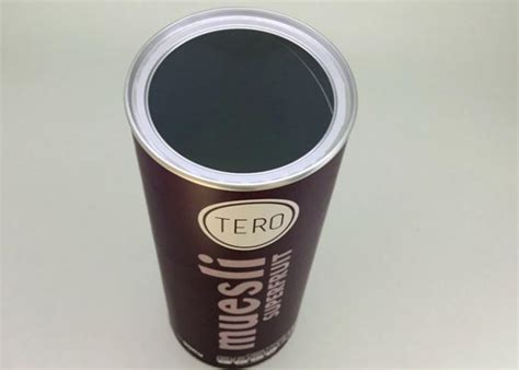 aluminium foil lining paper tube packaging oatmeal container mm diameter mm height