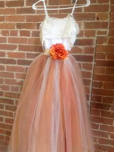burnt orange tulle gown with lace collar junior bridesmaid With burnt orange wedding dress