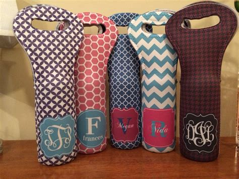 personalized wine tote monogram