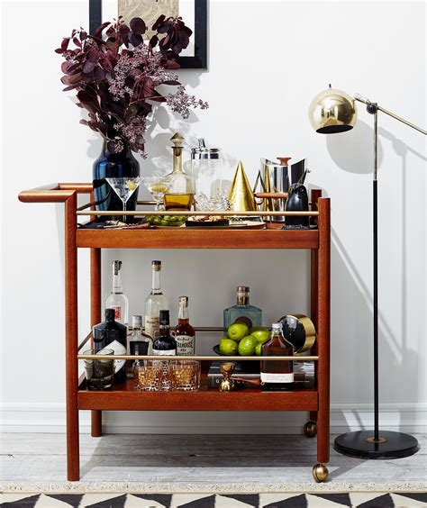 How To Decorate A Bar by 5 Genius Ways To Style A Bar Cart For Every Occasion