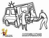 Coloring Ambulance Pages Paramedics Drawing Template Transportation Emergency Colouring Printable Police Sketch Service Fire Vehicles Cars Vehicle Yescoloring Getdrawings Templates sketch template
