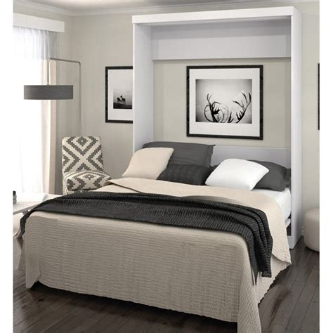 bestar pur queen wall bed in white 26184 17