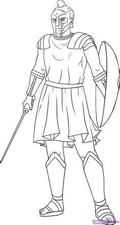 draw  roman legion soldier worksheet   draw