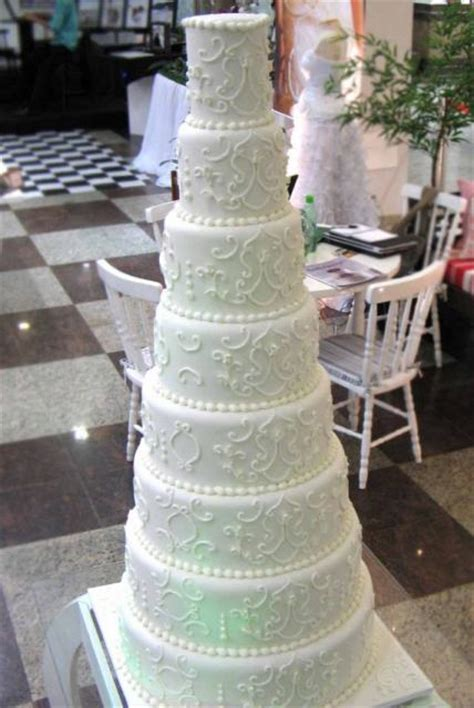tier  white wedding cake  pearl beadsjpg