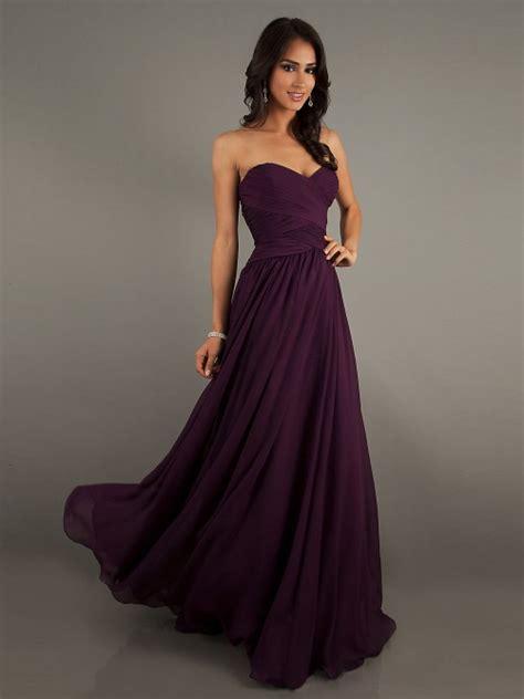 eggplant colored dress eggplant colored chiffon sweetheart floor length dress