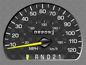 Car speedometer (odometer) and mileage Royalty Free Vector ...