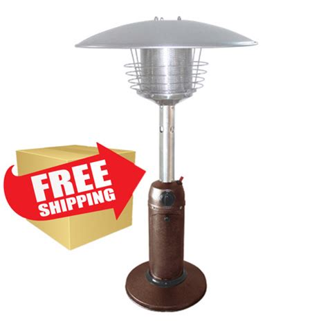 outdoor tabletop patio heater hammered bronze finish