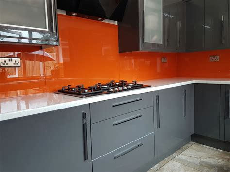 Glass Cupboards For Kitchens by Bespoke Glass Splashbacks Fitted To A Home Kitchen Painted
