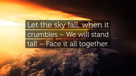 adele quote   sky fall   crumbles   stand tall face
