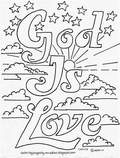Coloring God Pages Printable Popular