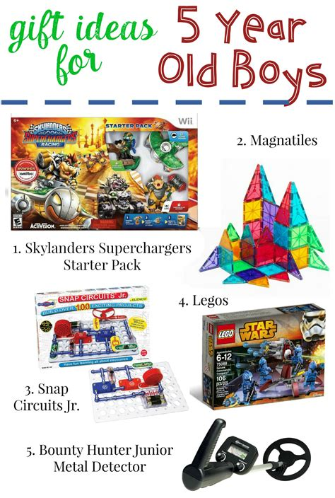 gifts for 5 year old boys