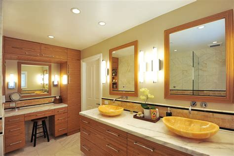 master bath montecito  honey onyx vessel sinks