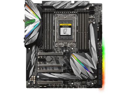 msi lanca  motherboard meg  creation