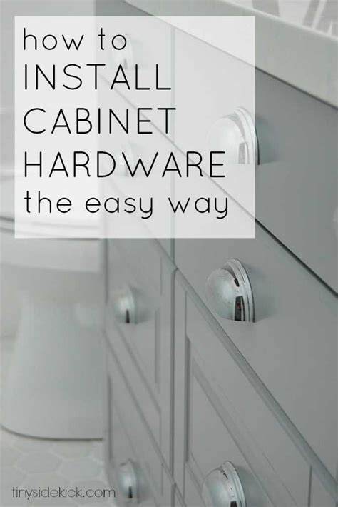 How To Install Cabinet Pulls by How To Install Cabinet Hardware The Easy Way