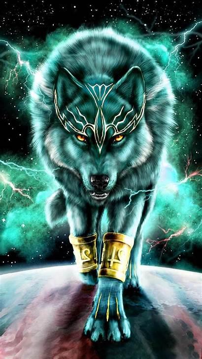 Wolf King Spirit Animal Artwork