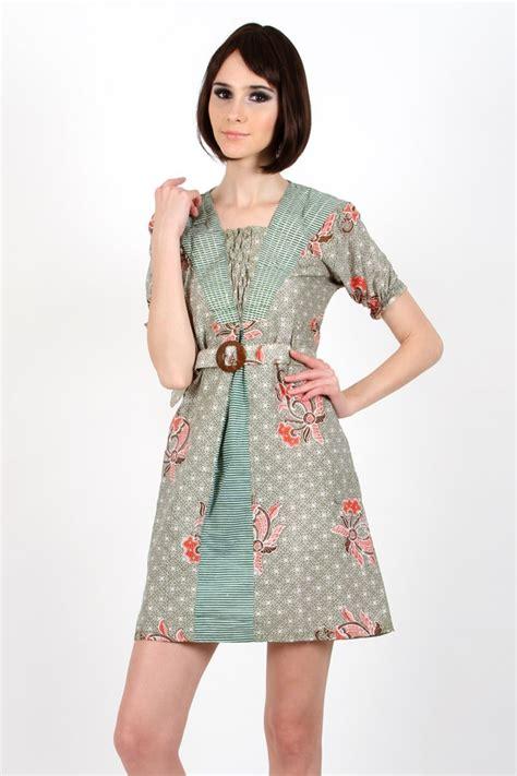 model dress batik pesta  remaja modern terbaru