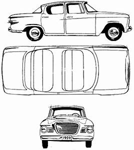 CAR blueprints - Studebaker Lark blueprints, vector ...