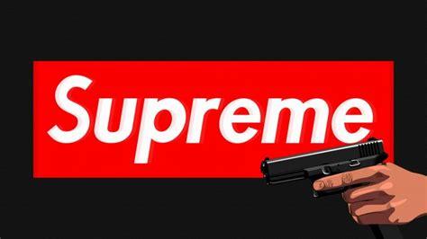supreme black background handgun red glock wallpapers hd desktop  mobile backgrounds