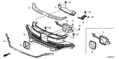 Honda Fit Diagram by 71123 T5r A50 Genuine Honda Molding Fr Grille