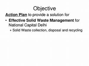 Action plan on waste management at home and in the community.