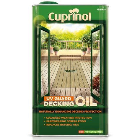 cuprinol uv guard decking oil natural  exterior paint