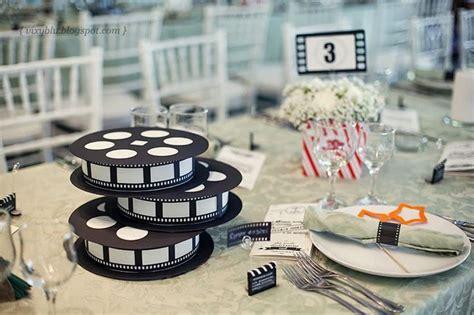 deco de table theme cinema mariage th 232 me cin 233 ma detendance boutik vente d articles de decoration de mariage