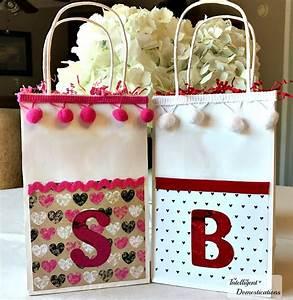 DIY Monogrammed Valentine Gift Bags Intelligent