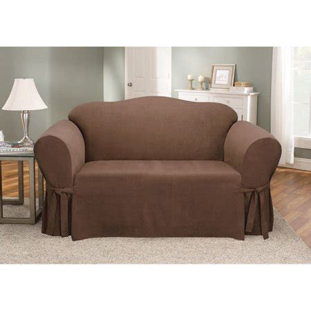 Loveseat Cover Walmart sure fit soft suede loveseat cover walmart