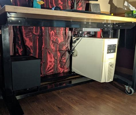 husky  adjustable height workbench   drawers