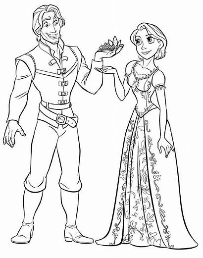Tangled Coloring Pages Disney Printable Characters Number