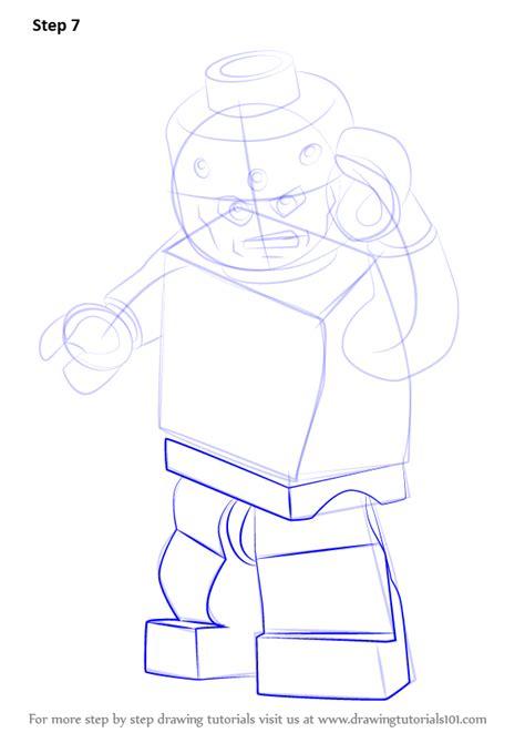 learn   draw lego brainiac lego step  step drawing tutorials